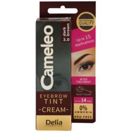 Delia Cosmetics Cameleo kremowa, profesjonalna farbka do brwi bez amoniaku odcień 3.0 Dark Brown 15 ml