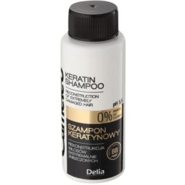 Delia Cosmetics Cameleo BB keratinový šampon pro poškozené vlasy  50 ml