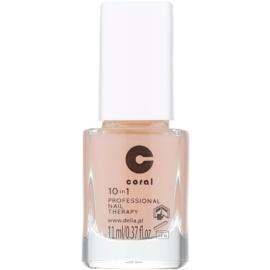 Delia Cosmetics Coral tratamento de unhas profissional 10 em 1  11 ml