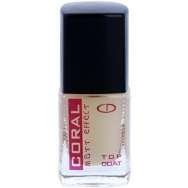 Delia Cosmetics Coral ochranný zmatňující vrchní lak na nehty  10 ml