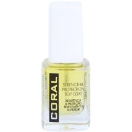Delia Cosmetics Coral vrchní posilující a ochranný lak na nehty  11 ml