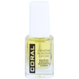 Delia Cosmetics Coral körömerősítő és védő fedőlakk körmökre  11 ml