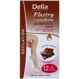 Delia Cosmetics Depilation Chocolate Fragrance szőrtelenítő gyantacsík testre  16 db