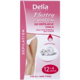 Delia Cosmetics Depilation Fragrance Free benzi depilatoare cu ceara rece pentru corp  16 buc