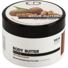 Delia Cosmetics Dermo System manteca corporal autobronceadora con extracto de nueces  200 ml