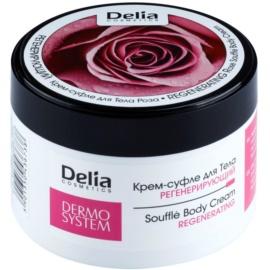 Delia Cosmetics Dermo System regenerační tělový krém s vůní růží  200 ml