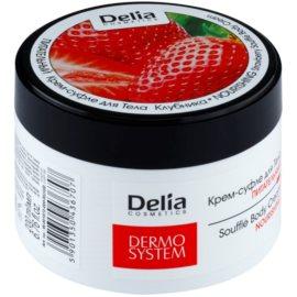 Delia Cosmetics Dermo System tápláló testkrém eper illattal  200 ml