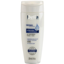 Delia Cosmetics Dermo System hidratáló tisztító tej az arcra és a szem környékére  200 ml