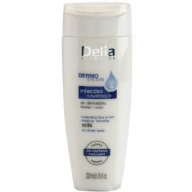 Delia Cosmetics Dermo System mleczko nawilżająco-oczyszczające do twarzy i okolic oczu  200 ml