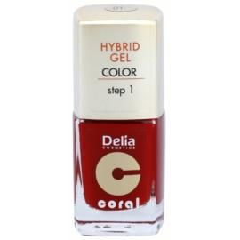 Delia Cosmetics Coral Nail Enamel Hybrid Gel esmalte de uñas en gel tono 01  11 ml