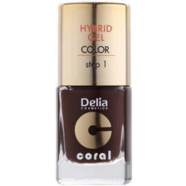 Delia Cosmetics Coral Nail Enamel Hybrid Gel verniz de gel para unhas tom 07  11 ml