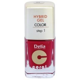 Delia Cosmetics Coral Nail Enamel Hybrid Gel esmalte de uñas en gel tono 03  11 ml
