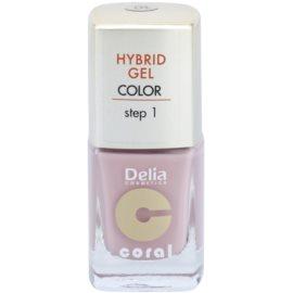 Delia Cosmetics Coral Nail Enamel Hybrid Gel verniz de gel para unhas tom 04  11 ml