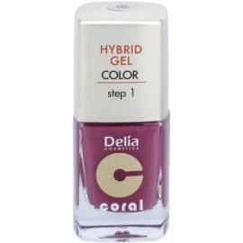 Delia Cosmetics Coral Nail Enamel Hybrid Gel lac de unghii sub forma de gel culoare 05  11 ml
