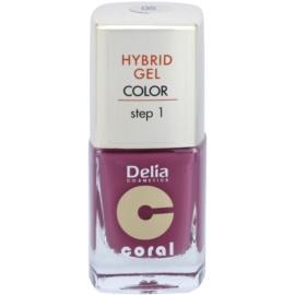 Delia Cosmetics Coral Nail Enamel Hybrid Gel verniz de gel para unhas tom 05  11 ml