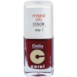 Delia Cosmetics Coral Nail Enamel Hybrid Gel lac de unghii sub forma de gel culoare 06  11 ml