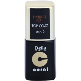 Delia Cosmetics Coral Nail Enamel Hybrid Gel cera en gel  11 ml
