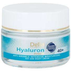 Delia Cosmetics Hyaluron Fusion 40+ інтенсивний зволожуючий крем проти зморшок  50 мл