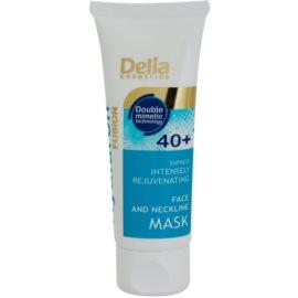 Delia Cosmetics Hyaluron Fusion 40+ intenzivně omlazující maska na krk a dekolt  30 ml