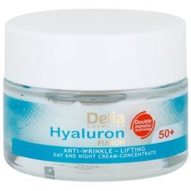 Delia Cosmetics Hyaluron Fusion 50+ feszesítő ránctalanító krém  50 ml