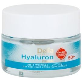 Delia Cosmetics Hyaluron Fusion 50+ festigende Anti-Faltencreme  50 ml
