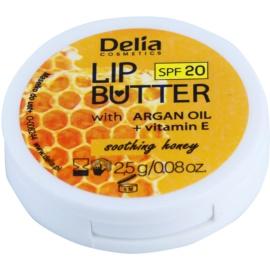 Delia Cosmetics Lip Butter Soothing Honey  pečující máslo na rty SPF 20  2,5 g