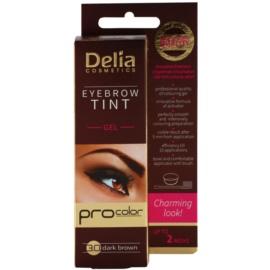 Delia Cosmetics Pro Color professionelle Gel-Creme für die Augenbrauen ohne Ammoniak Farbton 3.0 Dark Brown 15 ml