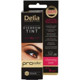 Delia Cosmetics Pro Color gel con color para cejas sin amoníaco tono 1.0 Black 15 ml