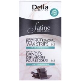 Delia Cosmetics Satine Depilation Chocolate Fragrance szőrtelenítő gyantacsík testre  16 db