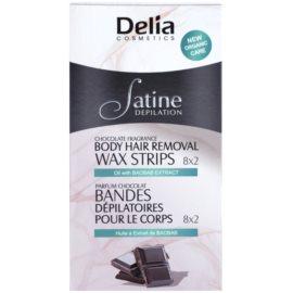 Delia Cosmetics Satine Depilation Chocolate Fragrance voskové depilační pásky na tělo  16 ks