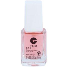Delia Cosmetics Coral балсам за нокти с калций за крехки нокти  11 мл.