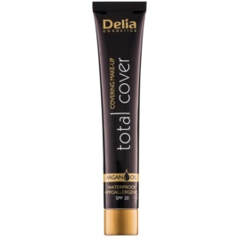 Delia Cosmetics Total Cover voděodolný make-up SPF 20 odstín 55 Natural 25 g