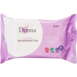 Derma Woman lingettes nettoyantes  25 pcs