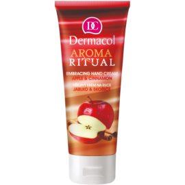 Dermacol Aroma Ritual creme com efeito de aquecimento para as mãos maçã e canela  100 ml