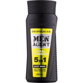 Dermacol Men Agent Total Freedom gel za prhanje 5 v 1  250 ml