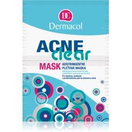 Dermacol Acneclear arcmaszk problémás és pattanásos bőrre  2x8 g