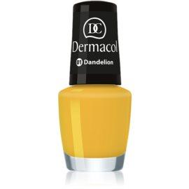 Dermacol Mini Summer Collection lac de unghii culoare 01 Dandelion 5 ml