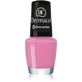 Dermacol Mini Summer Collection lac de unghii culoare 02 Rose Petals 5 ml