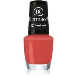 Dermacol Mini Summer Collection lac de unghii culoare 05 Punk Red 5 ml