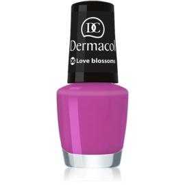 Dermacol Mini Summer Collection lac de unghii culoare 06 Love Blossom 5 ml