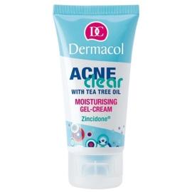 Dermacol Acneclear hidratáló géles krém problémás és pattanásos bőrre  50 ml