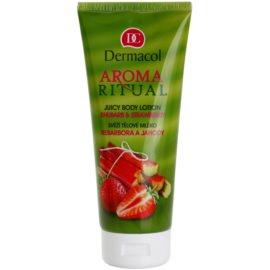 Dermacol Aroma Ritual frische Körpermilch Rhabarber und Erdbeeren  200 ml