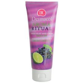 Dermacol Aroma Ritual antistressz kézkrém szőlő és lime  100 ml