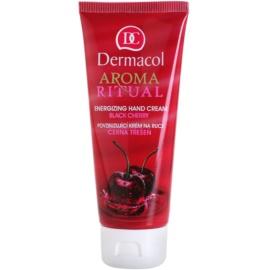 Dermacol Aroma Ritual stimulierende Creme für die Hände schwarze Kirsche  100 ml
