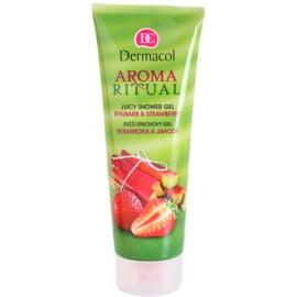 Dermacol Aroma Ritual gel de duche ruibarbo e morangos  250 ml