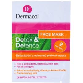 Dermacol Detox & Defence razstrupljevalna in zaščitna maska za obraz za vse tipe kože  2x8 g