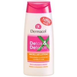 Dermacol Detox & Defence agua micelar desintoxicante y protectora  para rostro, cuello y escote  200 ml