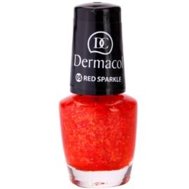 Dermacol Effect körömlakk 05 Red Sparkle 5 ml