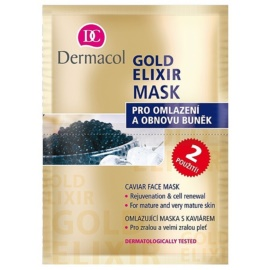 Dermacol Gold Elixir pleťová maska skaviárom  2x8 g