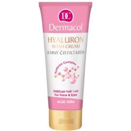 Dermacol Hyaluron crema limpiadora suave para rostro y ojos  100 ml